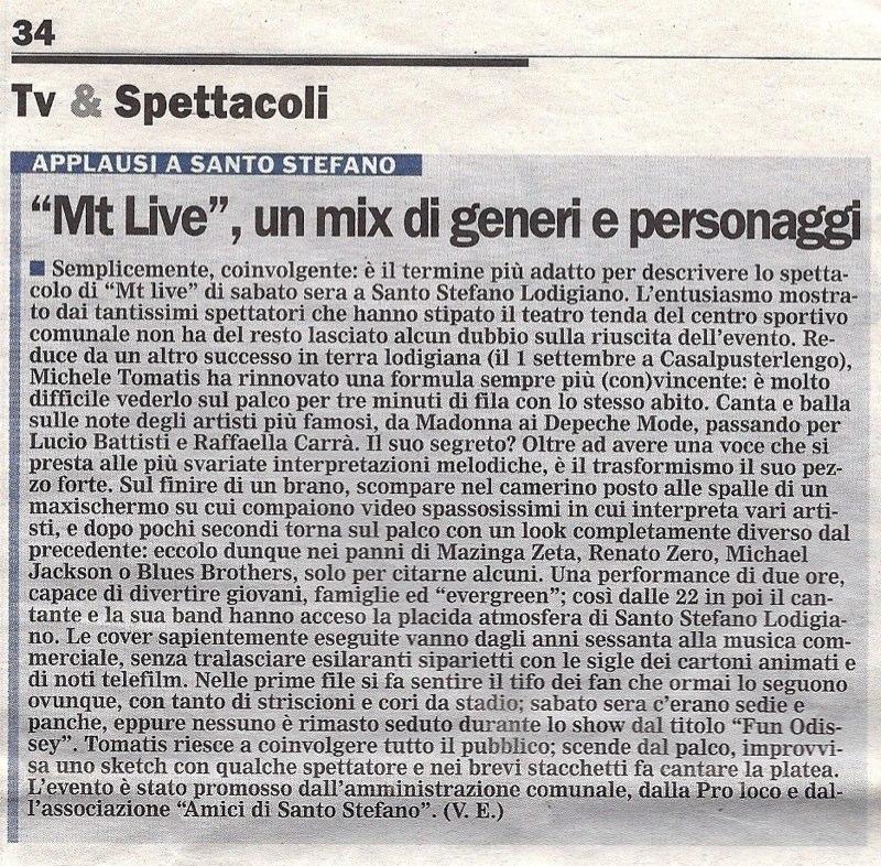 Articolo IL CITTADINO 20.10.2009