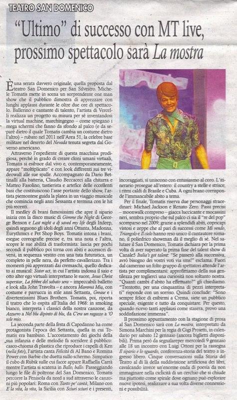 IL TORRAZZO 05.01.2013