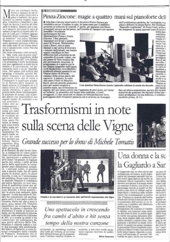 """""""IL CITTADINO"""" </br> 20.04.2009"""