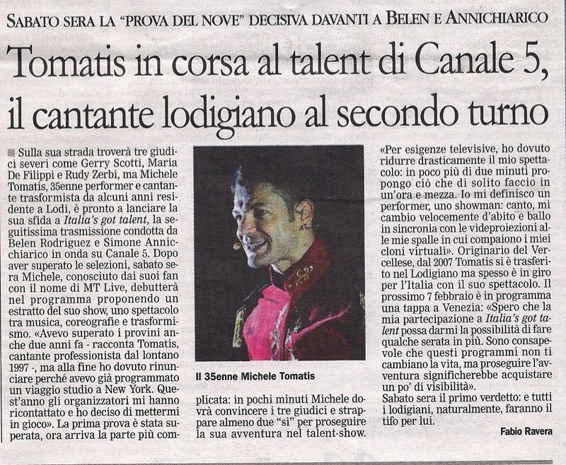 """""""IL CITTADINO"""" </br> 30.01.2013"""