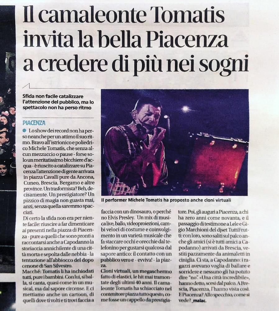 "Quotidiano ""LIBERTA' "" Piacenza"